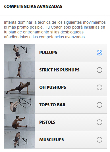 freeletics competencias avanzadas