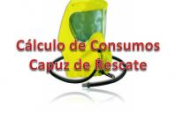 Capuz de rescate, cálculo de consumo