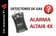 Alarmas del detector de gases Altair 4x (MSA)