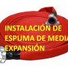 Instalación de espuma de media expansión, manguera