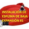 Instalación de espuma de baja expansión #1